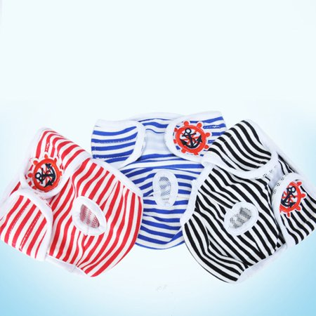 Female Pet Dog Physiological Menstrual Hygiene Pants Anchor Cotton Panty Brief - image 1 of 8