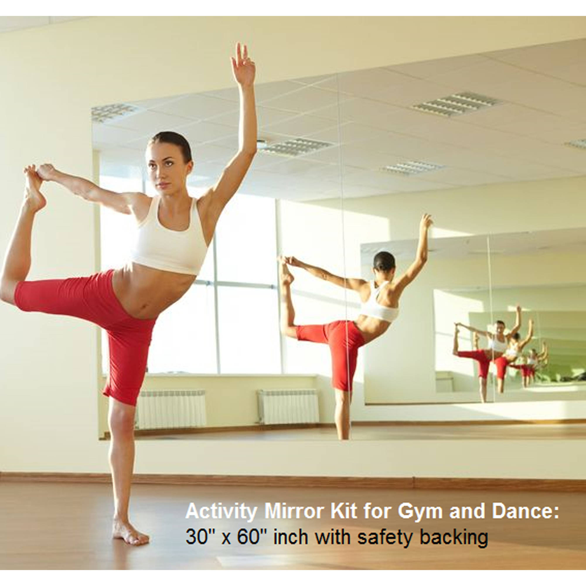 Activity Mirror Kit for Gym and Dance different Size Available with Safety Backing