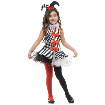 Black and White Jester Child Costume - X-Large (Costume Black And White)