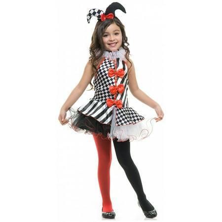 Black and White Jester Child Costume - X-Large (Jester Costume Child)