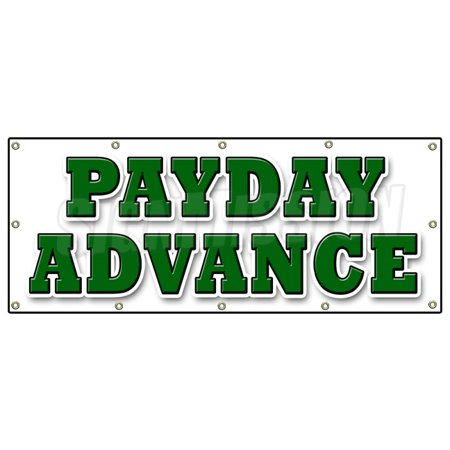 48 X120  Payday Advance Banner Sign Quick Ez Easy Credit Loans Fast Money Loan
