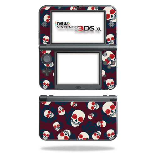 MightySkins Protective Vinyl Skin Decal for New Nintendo 3DS XL (2015) Case wrap cover sticker skins Skulls N Roses