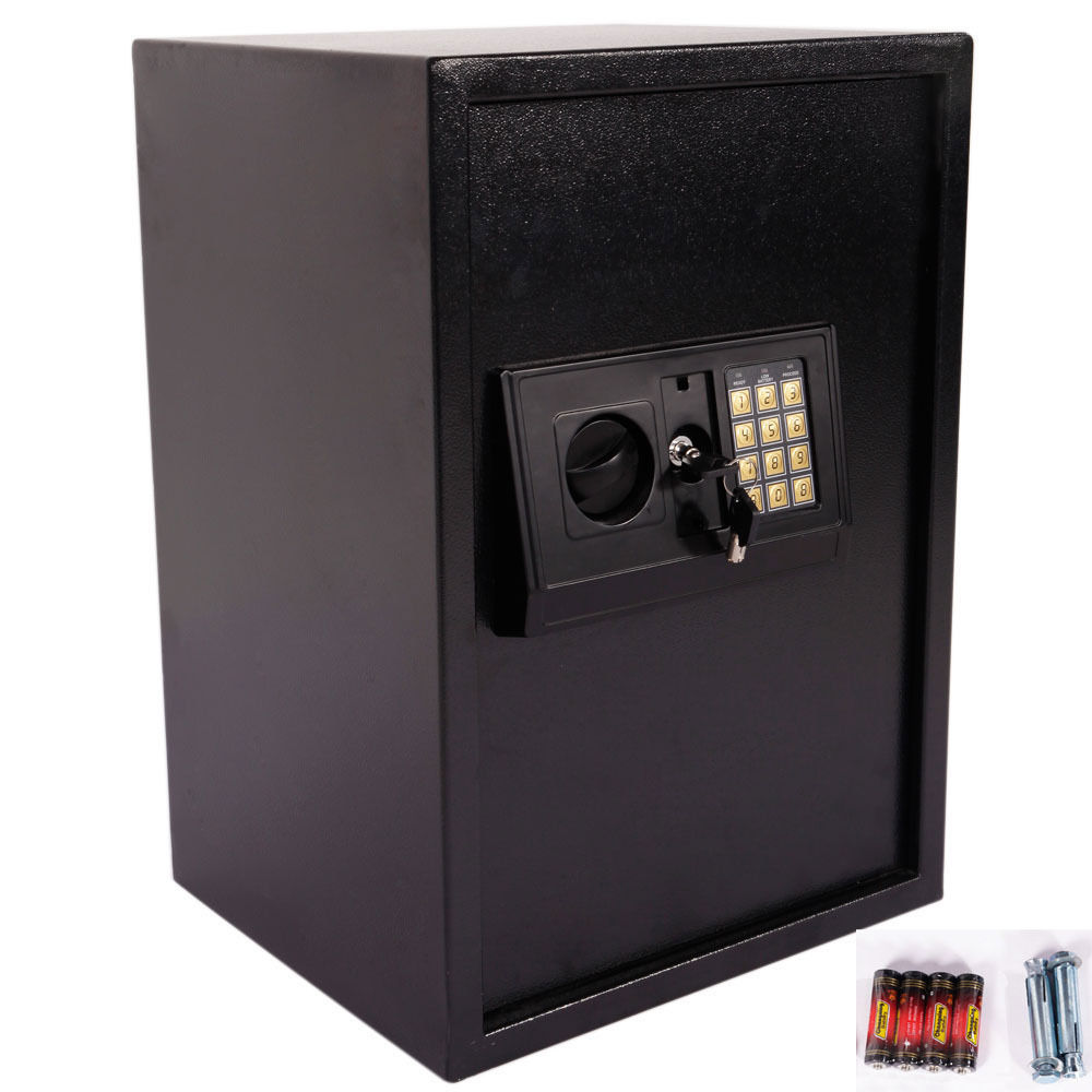 Zimtown New Large Digital Electronic Safe Box Keypad Lock Security Home Office Black US