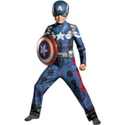 Captain America Movie Boys Child Halloween Costume, One Size, L (10-12)
