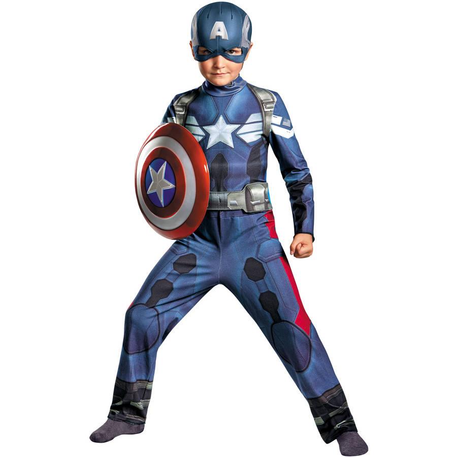 Captain America Movie Boys Child Halloween Costume, One Size, L (10-12)