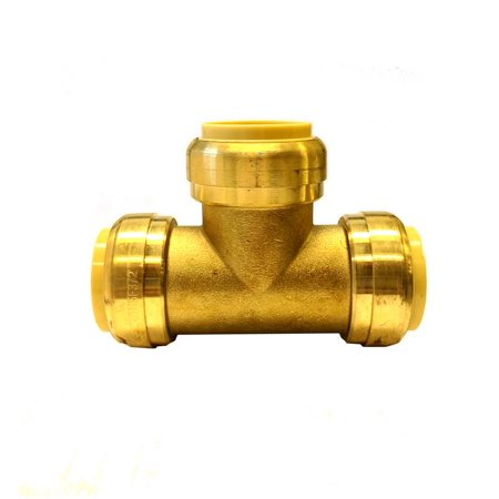 - Libra Supply Lead Free 1/2 inch Push-Fit TEE, Push to Connect, Push x Push x Push(Pack of 6 pcs, Click in for more size options), 1/2'', 1/2-inch Brass Pipe Fitting Plumbing Supply