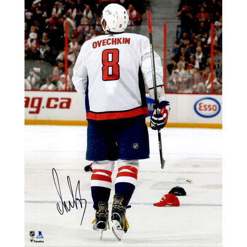 "Alex Ovechkin Washington Capitals Autographed 16"" x 20"" Skating Through Hats Photograph No Size by Fanatics Authentic"