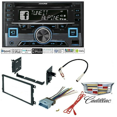 Alpine CDE-W265BT Double DIN Bluetooth In-Dash CD/AM/FM Receiver w/ App  Direct Mode Car Radio Stereo CD Player Dash Install Mounting Trim Bezel  Panel