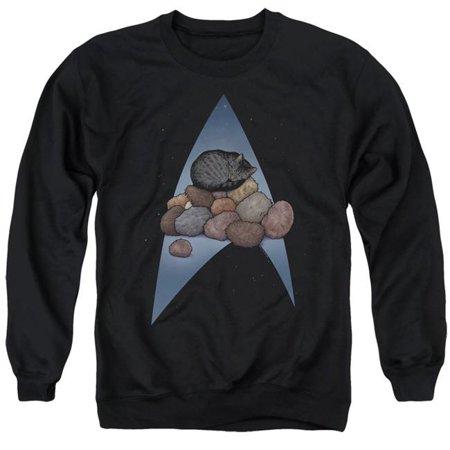 Trevco Sportswear CBS2548-AS-5 Star Trek & Five Year Nap Adult Crewneck Sweatshirt, Black - 2X - image 1 de 1