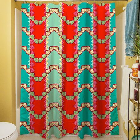 Manual Woodworkers Weavers Stripe Mint Shower Curtain