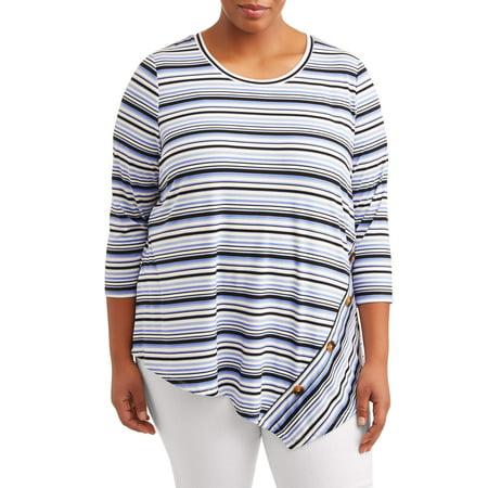 Women's Plus Size Asymmetric Stripe Top Lane Bryant Plus Size