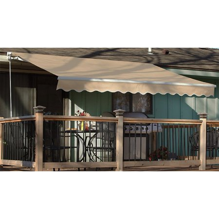 1039x839 manual retractable patio awning outdoor sun shade for Retractable patio awning canopy