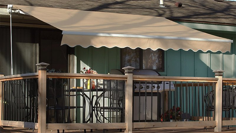 manual retractable patio awning outdoor sun shade canopy