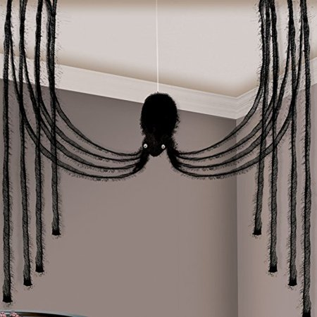 International Halloween Haunted House Cascade Fabric Hanging Spider Party Decoration