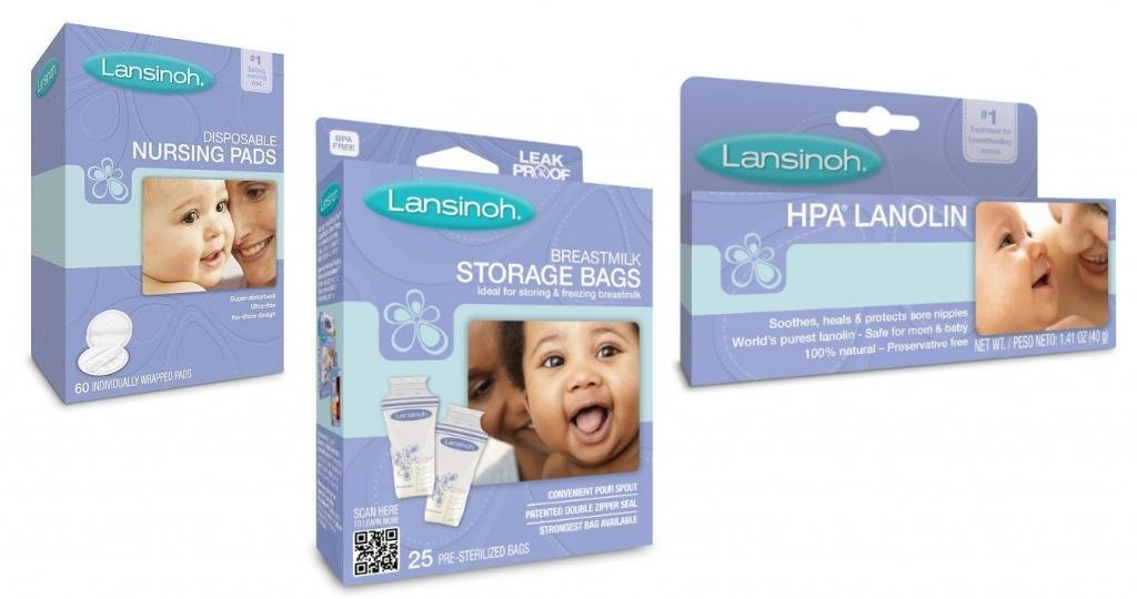 Lansinoh Disposable Nursing Pads with HPA Lanolin and Breastmilk Storage Bags by Lansinoh
