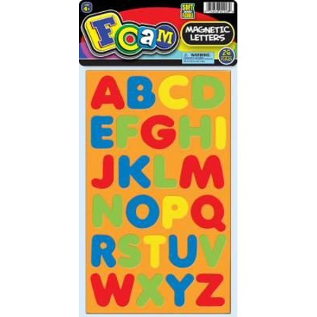Spanish Magnetic Foam Learning Letters - Ja-Ru Foam Magnetic Letters and Numbers (Pack of 6)