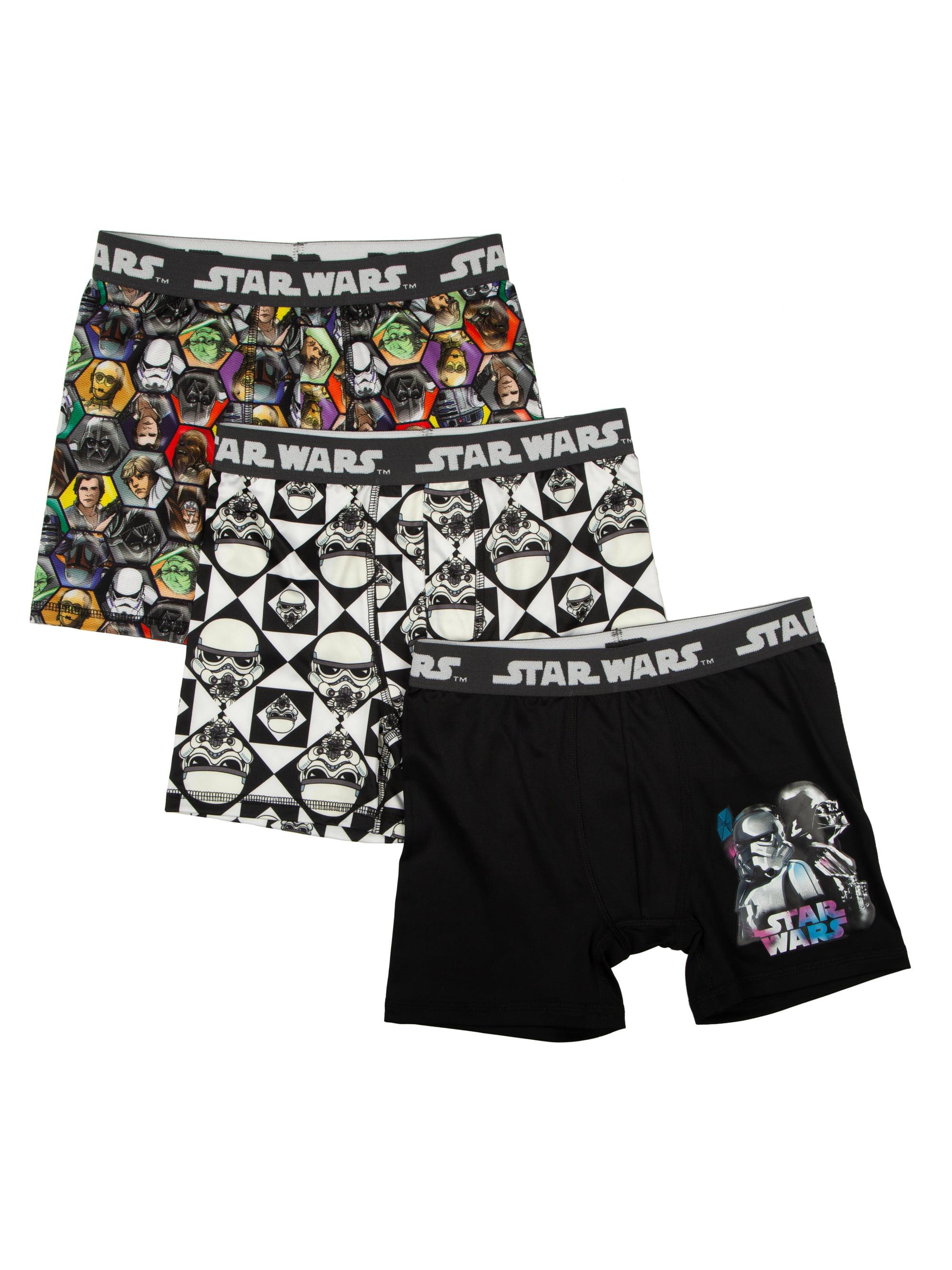 Star Wars Poly Boxer Briefs, 3 Pack (Big Boys & Little Boys)