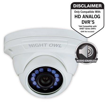 Night Owl 1 Pack Add–On 1080p HD Wired Security Dome Camera – Audio