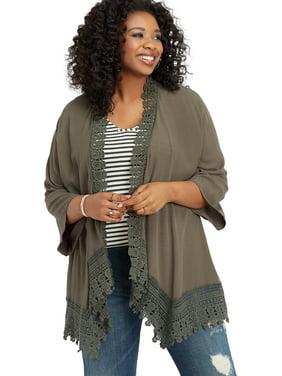 bc4ab13300f4 Women s Plus-Size Cardigans and Sweaters - Walmart.com - Walmart.com