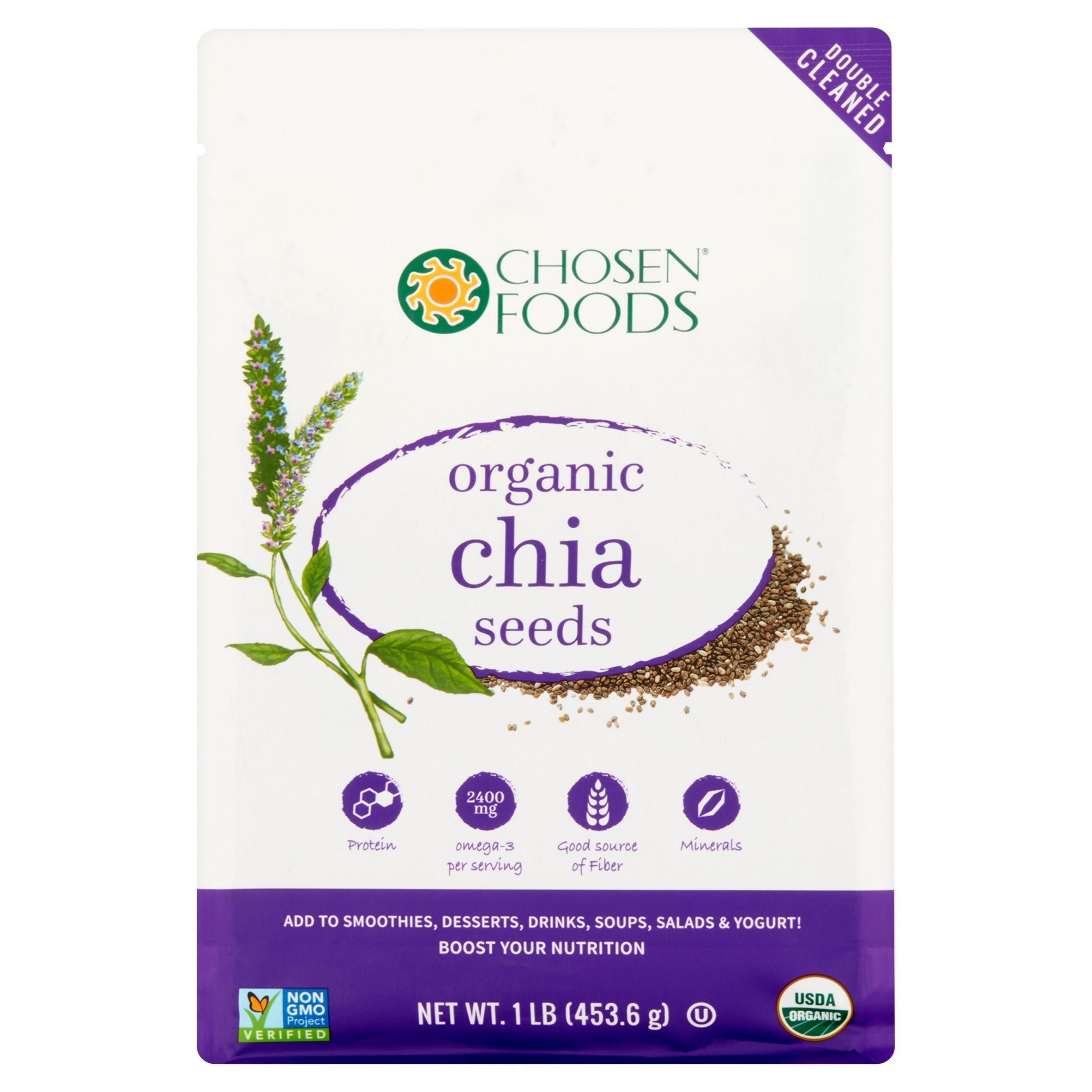 Chosen Foods Organic Chia Seeds, 1.0 Lb