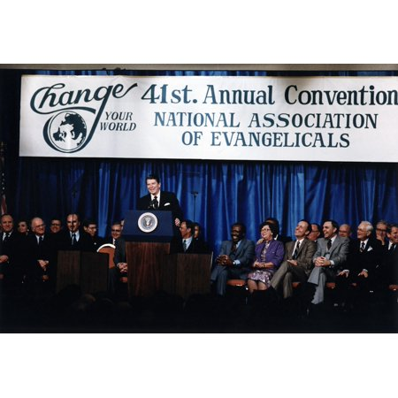 Ronald Reagan President Reagan Giving The Evil Empire Speech To The Annual Convention Of The National Association Of Evangelicals Orlando History