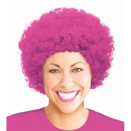 "Amscan Curly Afro Wig Costume Party Headwear, Pink, 11.25 x 8"" - image 1 de 1"