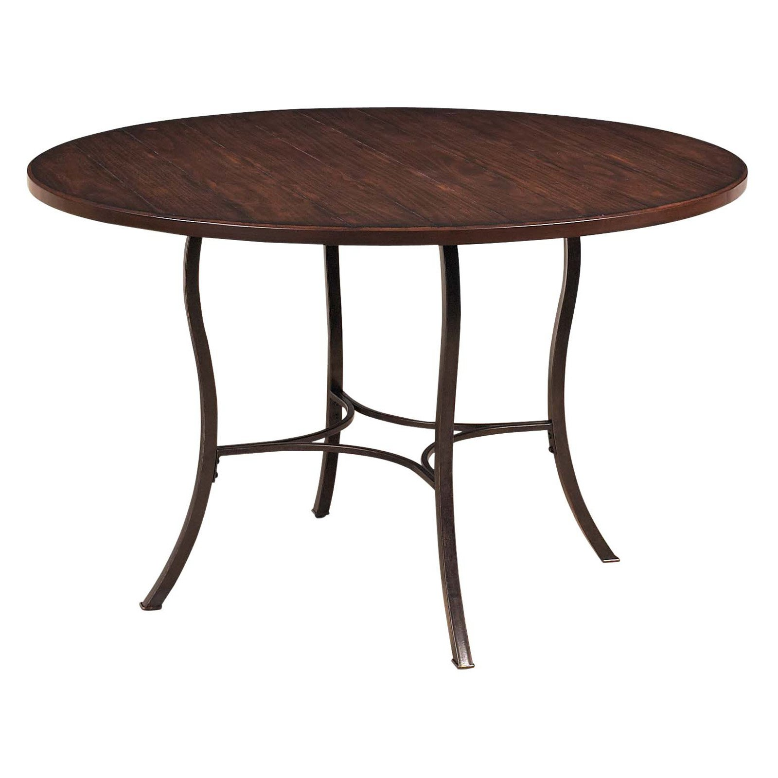 Hillsdale Cameron Round Wood and Metal Dining Table