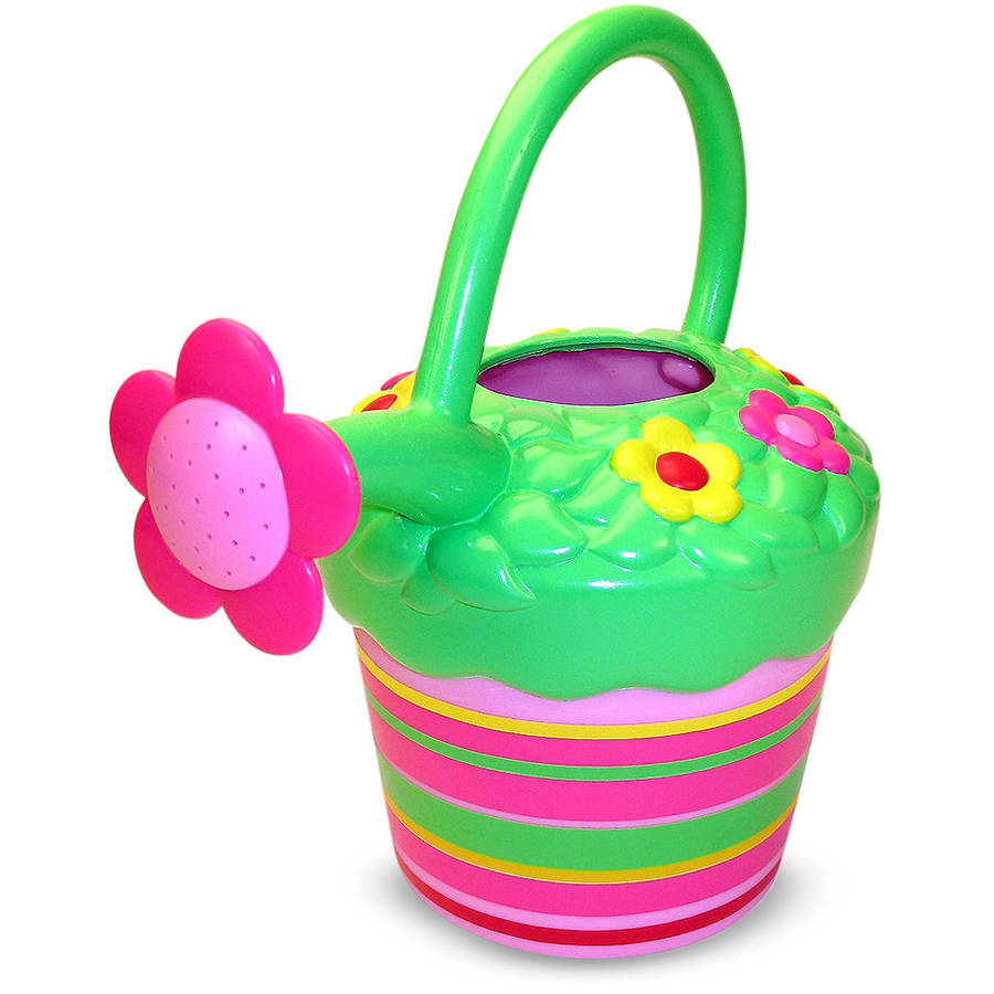 Melissa & Doug Sunny Patch Blossom Bright Flower Watering Can, Gardening Tool for Kids by Melissa %26 Doug