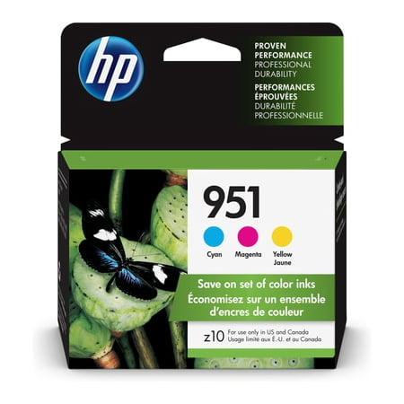 HP 951 3-pack Cyan/Magenta/Yellow Original Ink - Compatible Printer Ink