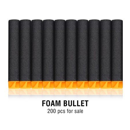 Yosoo 200pcs 7.2cm Soft Safety EVA Foam Refill Bullets Darts for Kids Toy Gun Children Gift , Foam Darts, Soft Bullets Darts - Kids Toy Guns