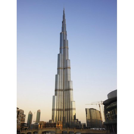 Burj Khalifa, the Tallest Tower in World at 818M, Downtown Burj Dubai, United Arab Emirates Print Wall Art By Amanda