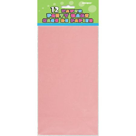 (3 Pack) Paper Luminary & Party Bags, 10 x 5 in, Pastel Pink, 12ct ()