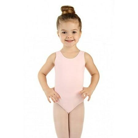 Elowel Girls' Tank Leotard Baby Pink (size-8-10 ) (White Leotard Girls)