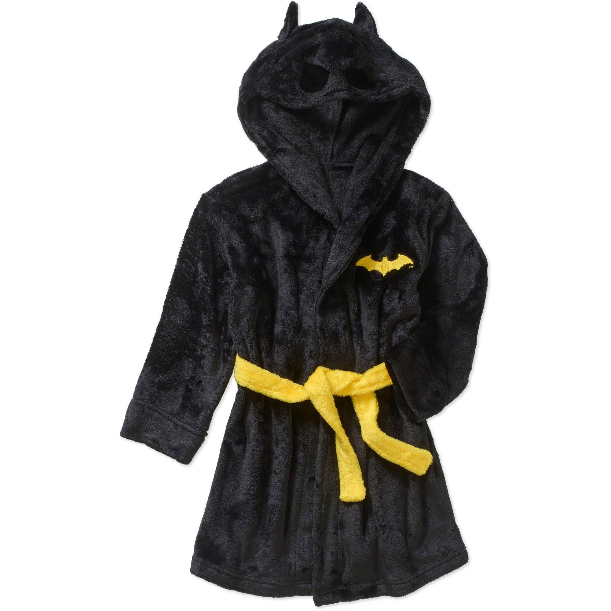 Joe Boxer Boys Navy Blue Plush Football Themed Fleece Bath Robe ...