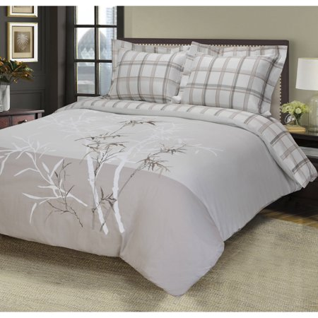 Superior Elmwood Premium Cotton Embroidered 3-Piece Duvet Cover Set