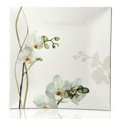 Intrada Italy Vivere Orchid Square Platter