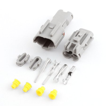 2 Kit 2 Terminal Way Waterproof Electrical Wire Connector for Car Motorcycle - image 3 de 4
