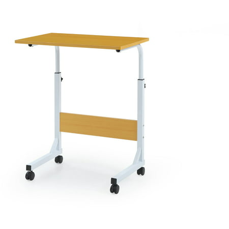 Hodedah Adjustable Height Wood Top Laptop Desk on Wheels, Multiple Colors ()