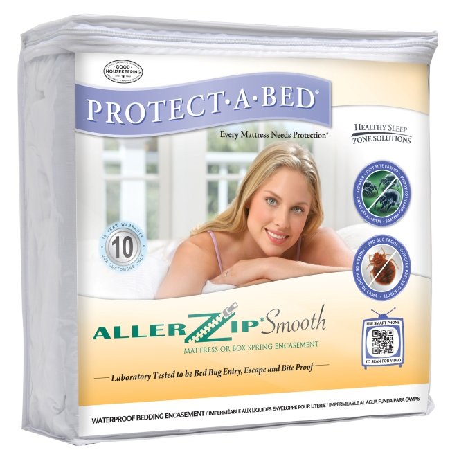 Protect-A-Bed AllerZip Smooth Cal King Bedbug-proof Mattress Protector