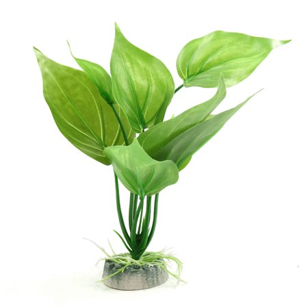 Plastic Lifelike Leaves Plant Aquarium Terrarium Decor for Reptiles Amphibians (Plastic Reptiles)