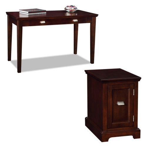 Leick Laptop Desk with Printer Stand - Chocolate Cherry
