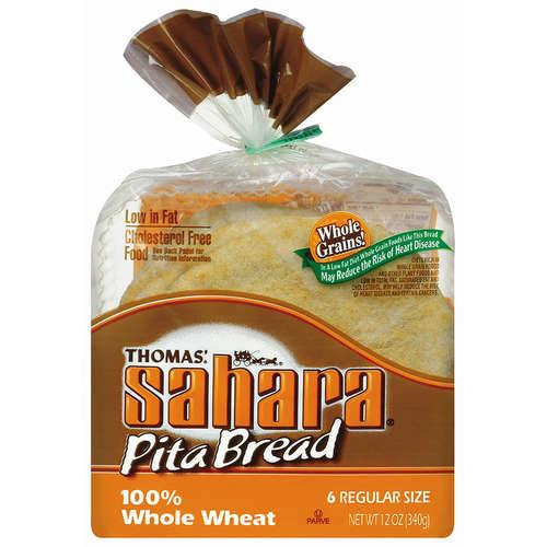 Sahara Hearty Grains 100% Whole Wheat Pita Bread, 8 count