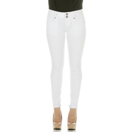 9c10e65efae2 YDX Jeans - Cover Girl Jeans Women Juniors Mid Rise Slim Fit Stretchy  Skinny Jeans 4 Options Size 5 WHITE (29