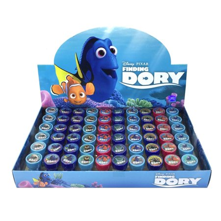 61 PCS Disney Finding Dory Self-inking Stamp Birthday Party Favors Stampers - Dory Birthday