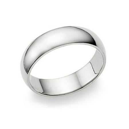 6MM Sterling Silver High Polish Plain Dome Tarnish Resistant Comfort Fit Wedding Band Ring Sz 10 Silver Polished Finish Plain Band