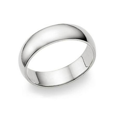 Sandblast Comfort Fit Wedding Band (6MM Sterling Silver High Polish Plain Dome Tarnish Resistant Comfort Fit Wedding Band Ring Sz 10)