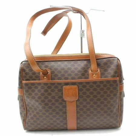 Zip Shopper Bag (Macadam Monogram Zip Shopper 869462 Brown Coated Canvas Shoulder Bag)