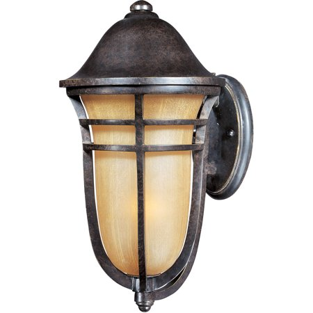 - Wall Sconces 1 Light Bulb Fixture With Artesian Bronze Finish Viex Material Medium Bulbs 9 inch 100 Watts