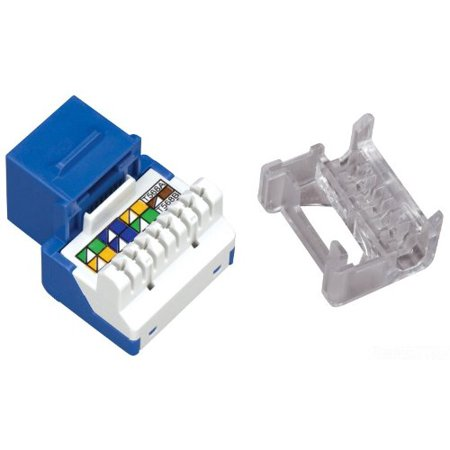 Allen Tel AT55-20 Category 5e Jack Module, Blue, 1 Port, T568-A/B, Termination 4 Pair 26 To 22 Unshielded Twisted Pair Cable, 8 Position, 8 Conductor,.., By Allen Tel (1 Module Port)