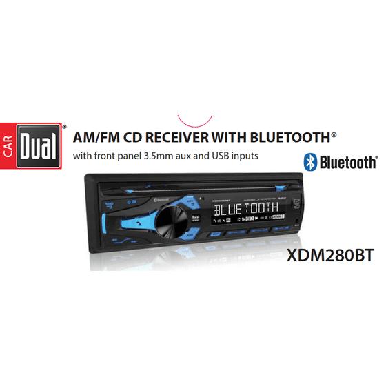 Dual Electronics XDM280BT Multimedia Detachable 3.7 inch LCD Single on
